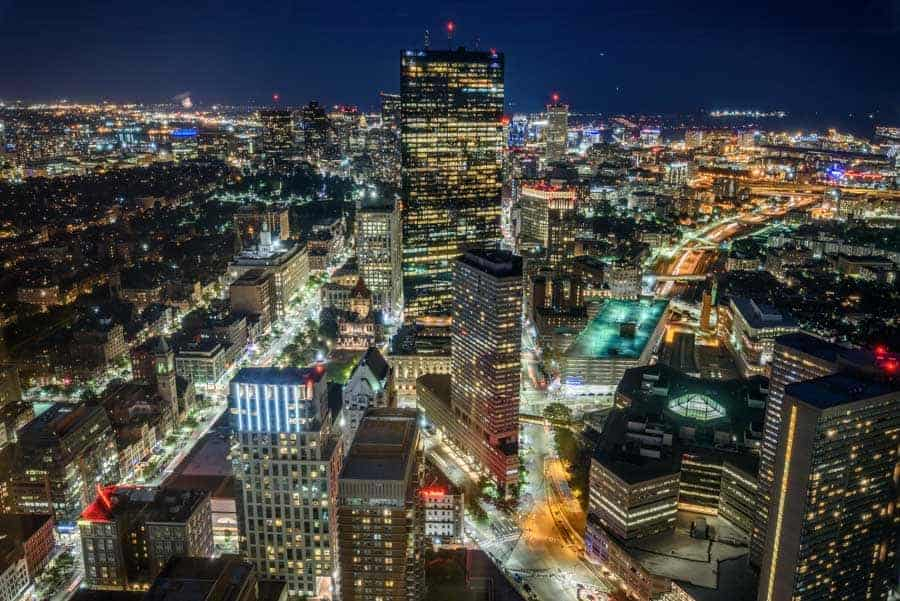 Boston from the Skywalk Observatory (© Kevin D. Jordan Photography)