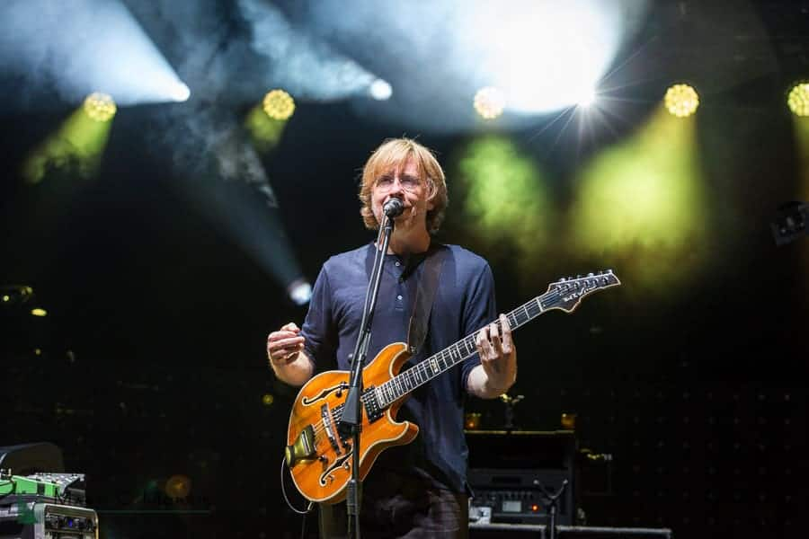 Phish lead guitar/singer Trey Anastasio photo by Mark Morris