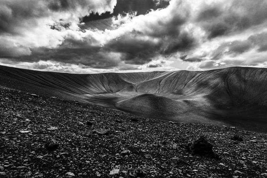From the rim of Hverfjall (© Kevin D. Jordan Photography)