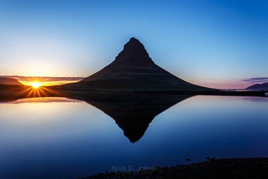 Midnight sun at Kirkjufell (© Kevin D. Jordan Photography)