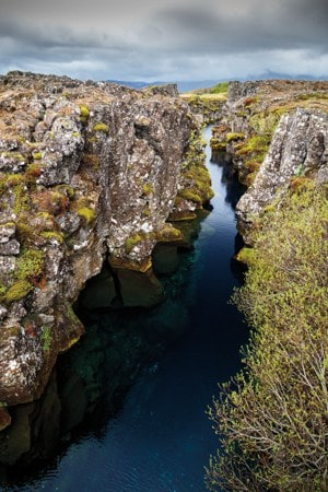 Silfra in Thingvellir National Park