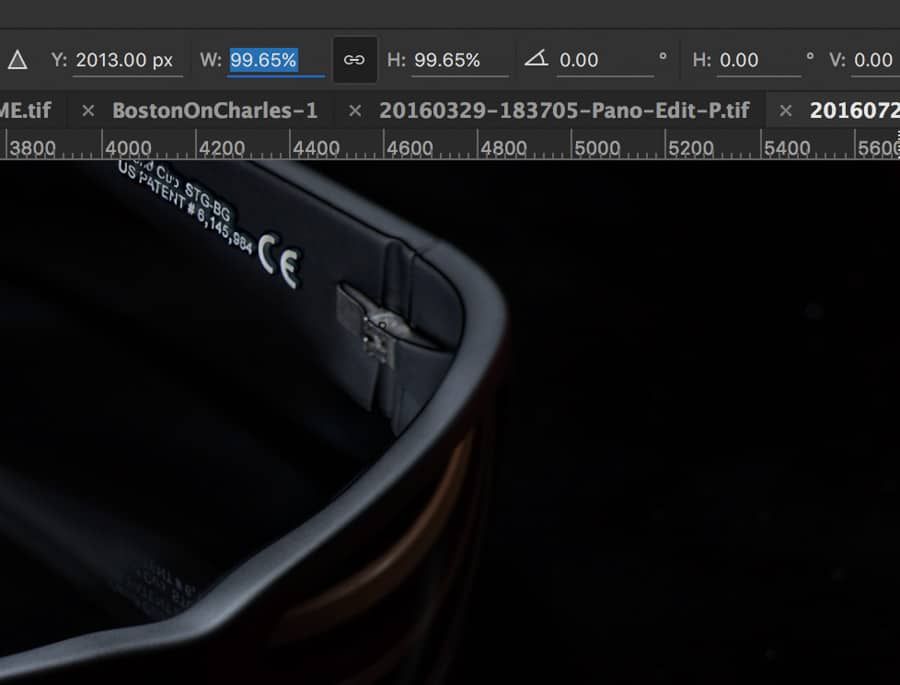 By locking together the H & W proportions of a layer, you are able to manually align layers for hand made focus stacked images when PS just won't do!