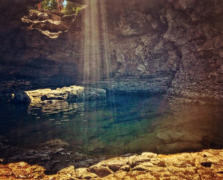 The only way to get a photo of this grotto, from this angle is from in the icy cold waters of Georgian Bay. The only way to get to the spot is by swimming. Am I going to be selling any large prints of this photo? Nope, but I like it, I'm glad I had a camera with me and it went over pretty well on Instagram. Sometimes, it doesn't have to be perfect, fun is reason enough.