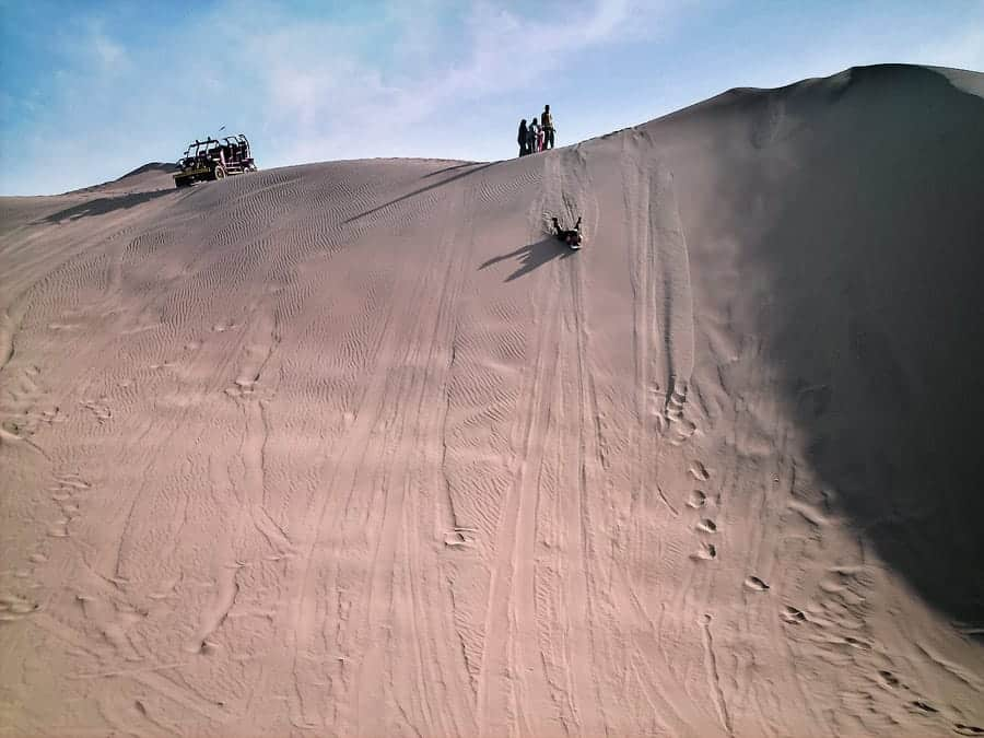 Sandboarding is not a super camera friendly activity.