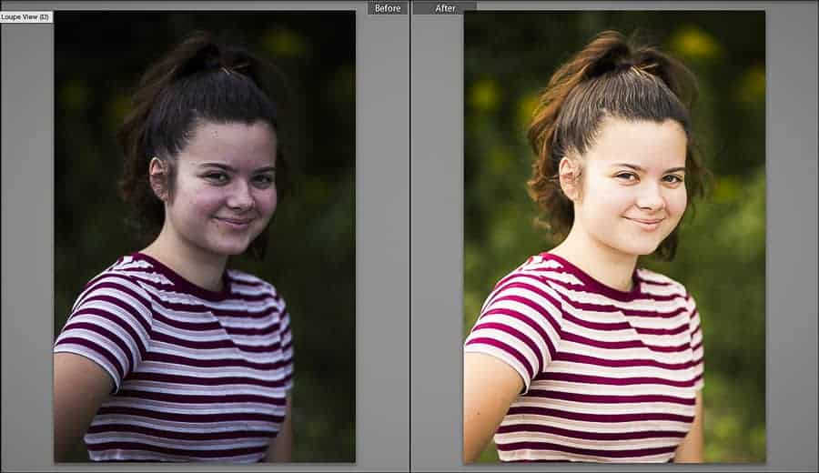 With time and practice, you'll be able to transform an image like the one on the left into the one on the right in just a few minutes.