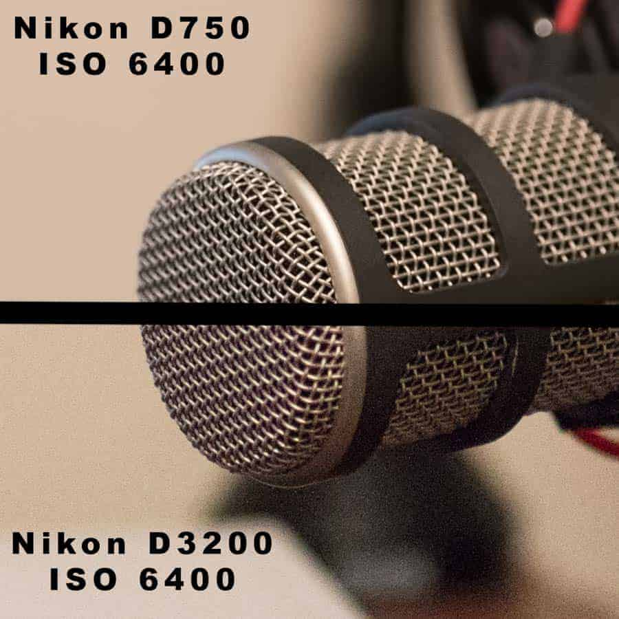 Sensor quality is a big factor in low light, high ISO shooting. Here is an enthusiast level Nikon D750 vs an entry level D3200 at ISO 6400. The D750 is much cleaner and capable of making good images where with the D3200 you are really pushing the files to the point where they fall apart.