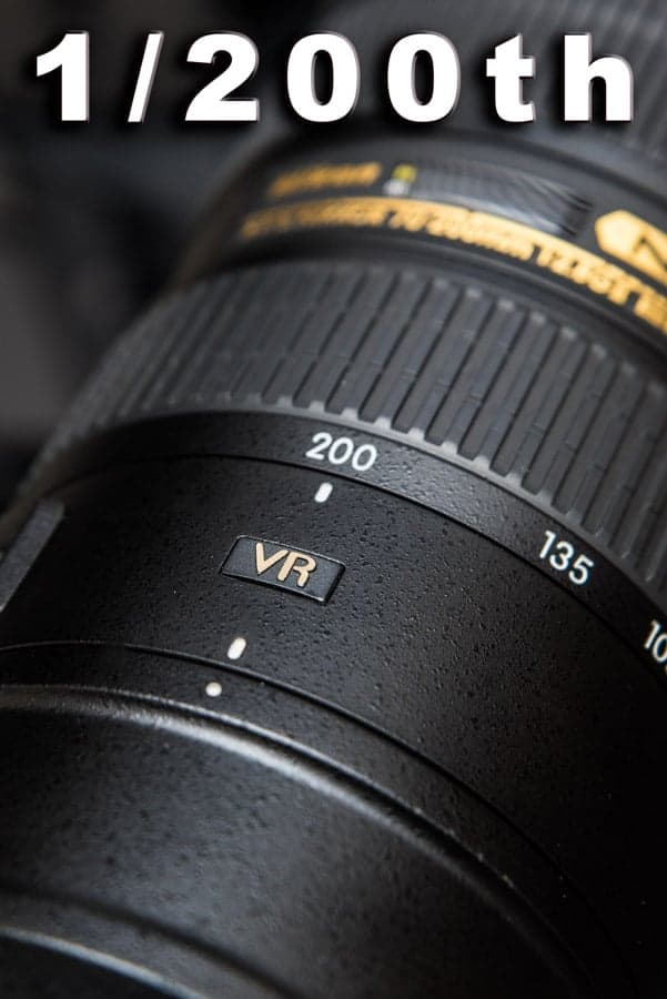 Remember to use the 1/FOCAL LENGTH when shooting to minimize the risk of introducing camera shake to your images.