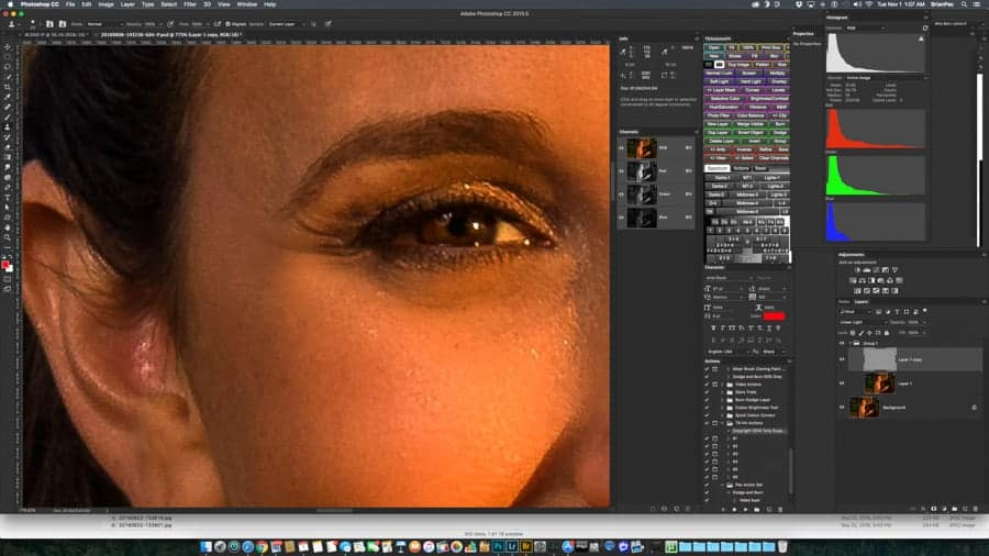 Frequency Separation in PS allows for fine tune, high end editing of your digital photos.
