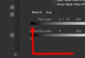 """This little SPLIT marking allows you to """"feather"""" the tonal range between the two split points. While holding the OPT/ALT key and dragging, you will visually see the feathering in real time."""