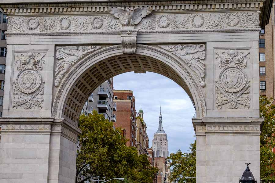 Through the Washington Square Arch. Photo by author.