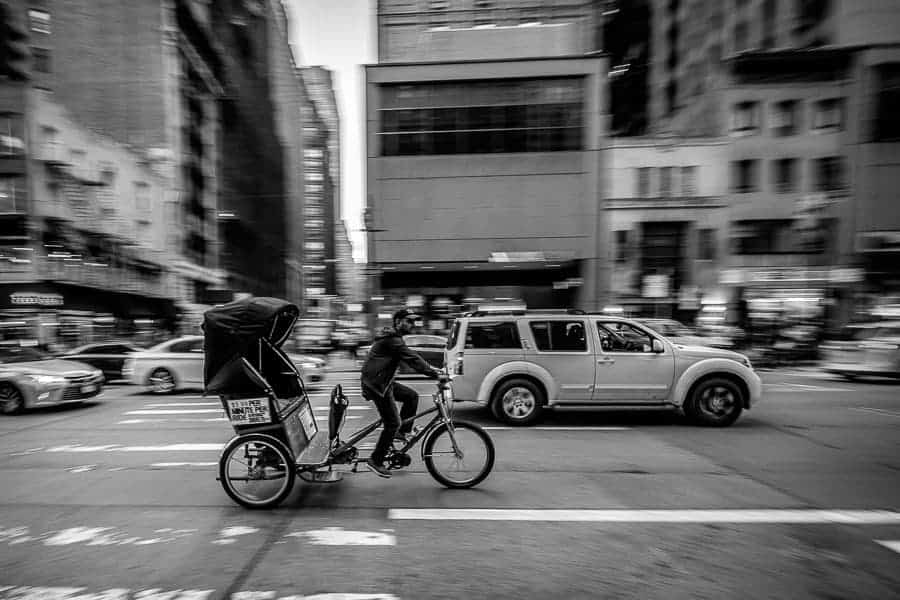 One of many modes of transportation in the city. Photo by author.
