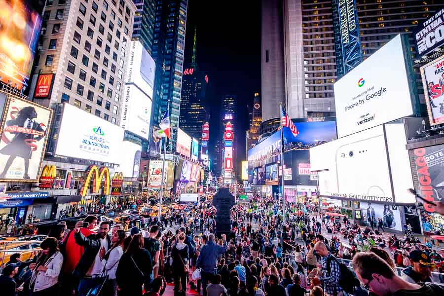 The craziness that is Times Square. Photo by author.