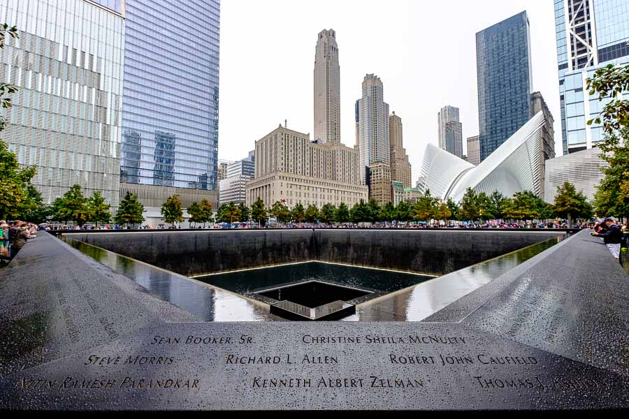 The 9/11 Memorial. Photo by author.