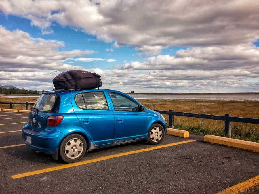 This tiny car has carried my partner and me from coast to coast and back again and to many points in between, with our 2 chihuahuas and all our stuff. We have car packing down to an art. Photo by Tracy Munson