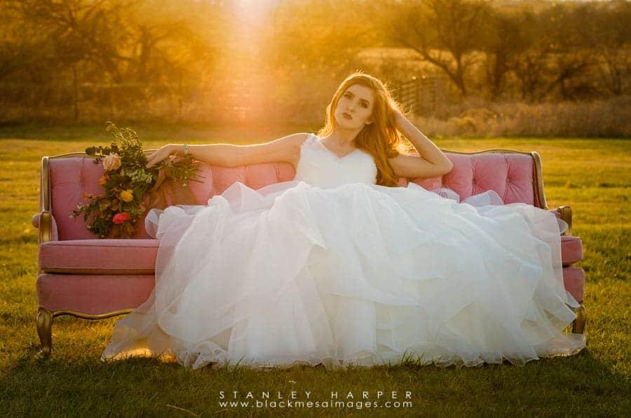 styled bridal photography shoot