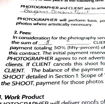 Things To Include In A Portrait Photography Contract