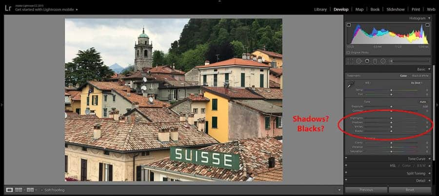 Shadows vs Blacks Sliders: How They Affect Photos Differently