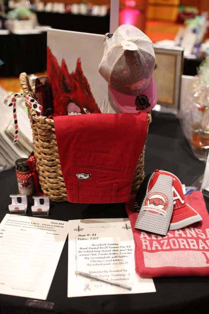 Razorback items at charity event