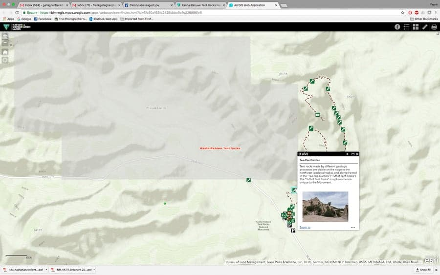 Kasha-Katuwe Tent Rocks Interactive Map