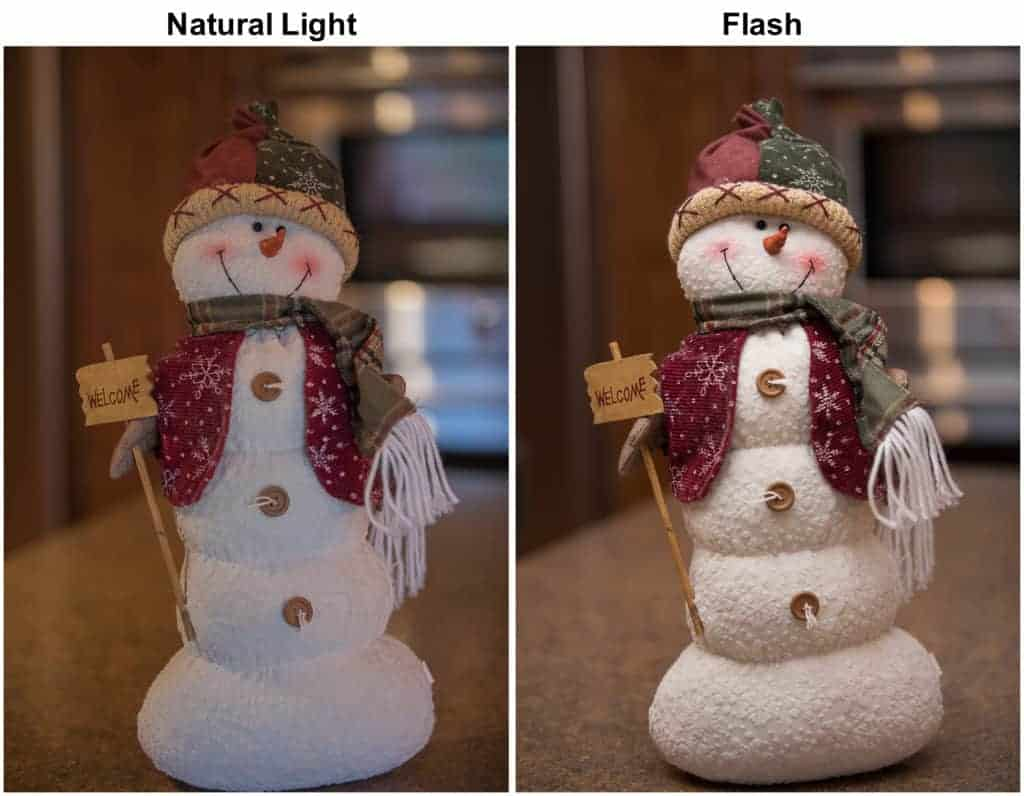 Natural light vs Flash