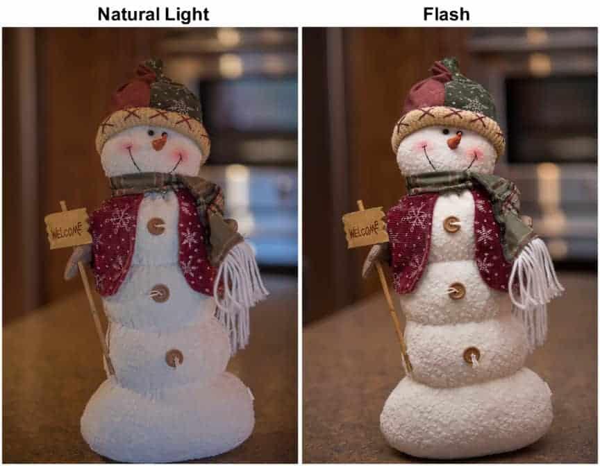 Natural light vs Flash