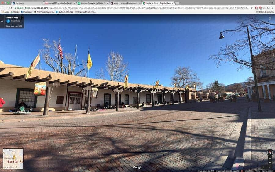 Street view from Santa Fe Plaza