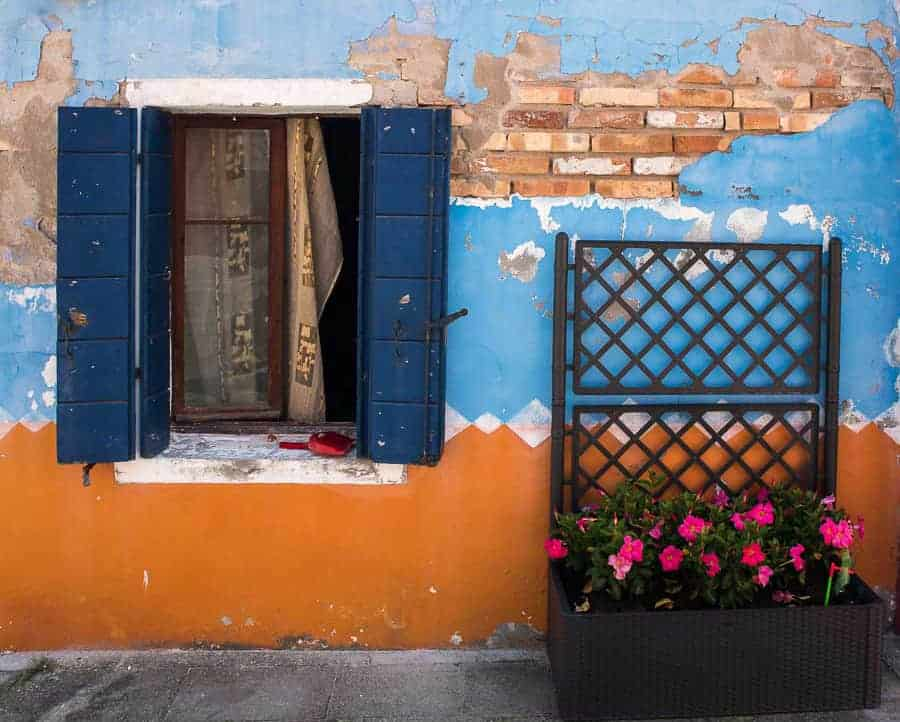 Window in Burano.