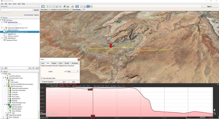 A Guide To Google Earth For Landscape Photographers - Can google maps show elevation