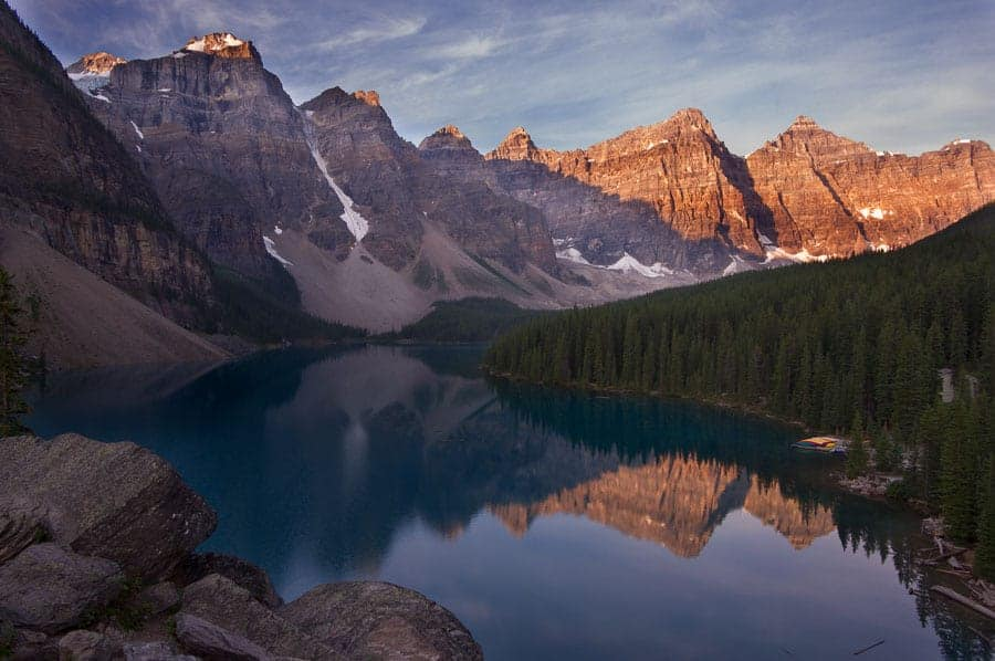 Moraine Lake Sunrise, taken during a photo workshop.