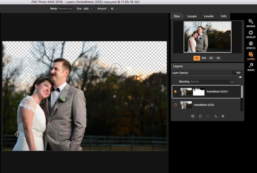 On1 Photo RAW Layers masking