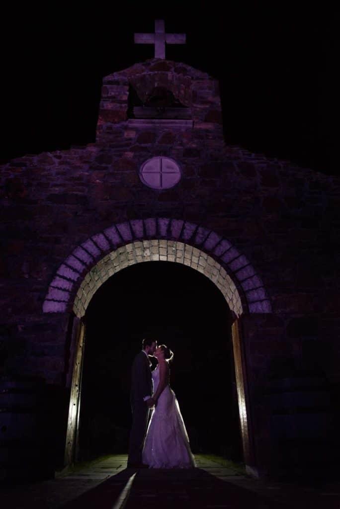 Wedding photos at night