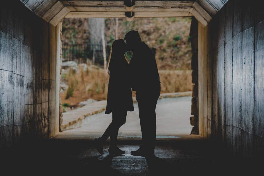 engagement photo silhouette