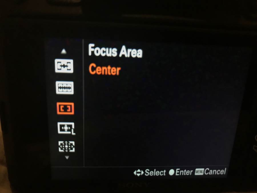 Sony Center focus