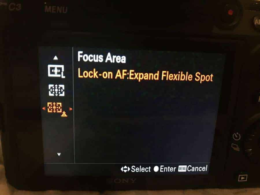 Sony lock on Expand flexible spot