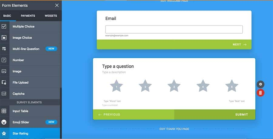 adding star review element