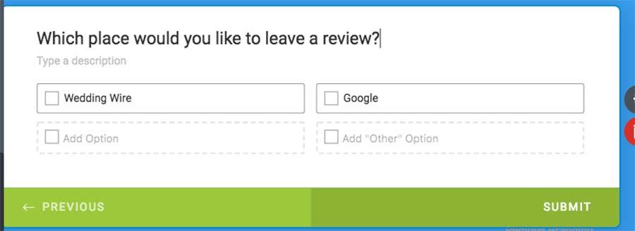 multiple choice form on jotform