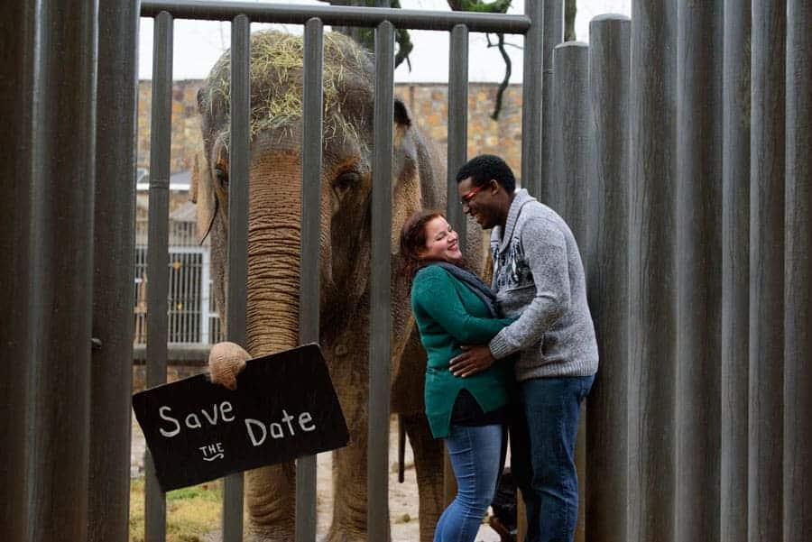 zookeeper engagement photo