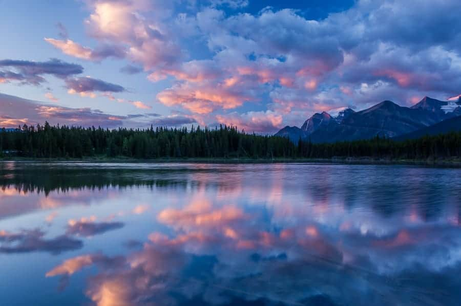 Sunrise, Lake Herbert, Canadian Rockies