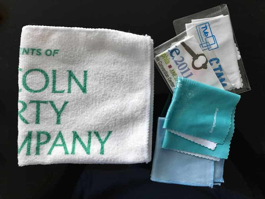 Microfiber towels and cloths.