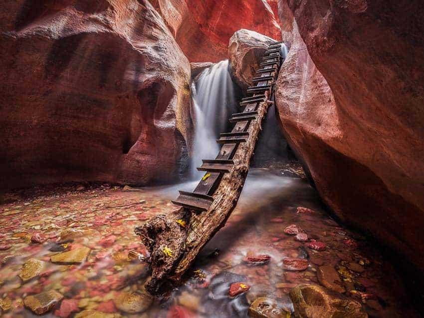 Kanarra Creek Falls in Southern Utah by Jim Harmer