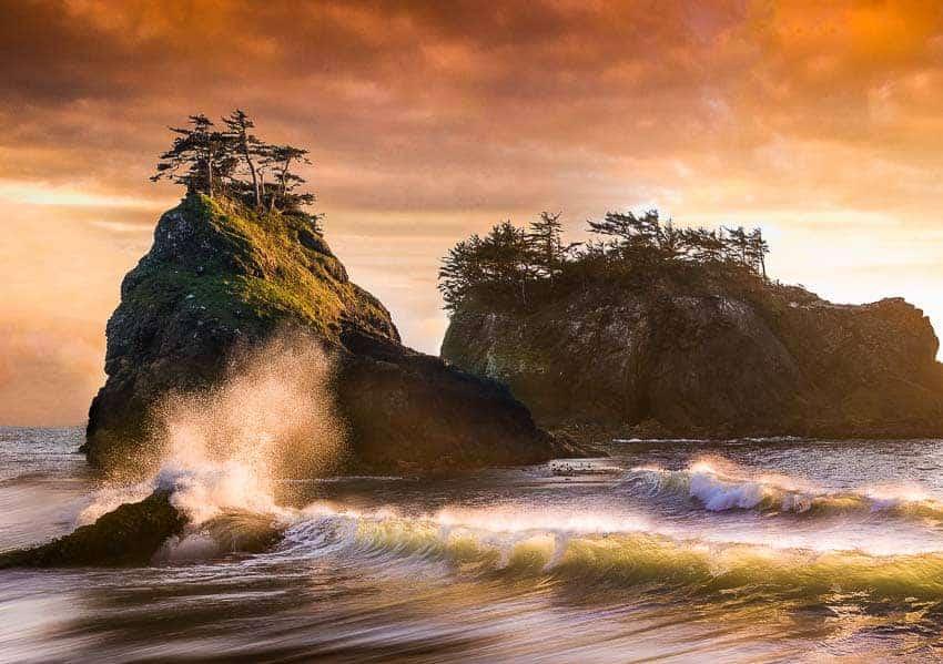 Secret Beach in Oregon by Jim Harmer